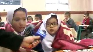 Schools in Iran don't work to protect kids from the cold weather - Video