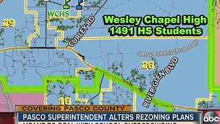 Pasco superintendent alters rezoning plans - Video