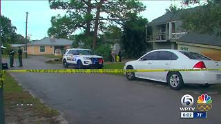 One person shot, one person in custody in Martin County - Video