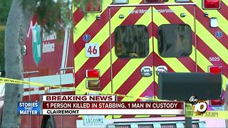One in custody after Clairemont stabbing - Video