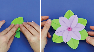 Paper flowers tutorial - Video