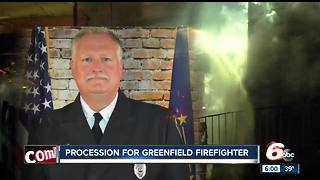 Procession held for fallen Greenwood firefighter - Video