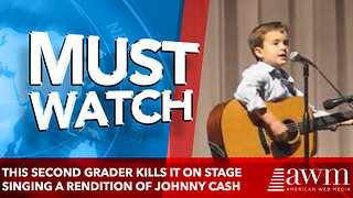This Second Grader Kills It On Stage Singing A Rendition Of Johnny Cash Classic - Video