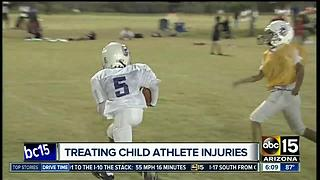 Treating child athlete injuries - Video