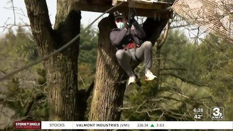 Ziplining offers adrenaline during slow paced year