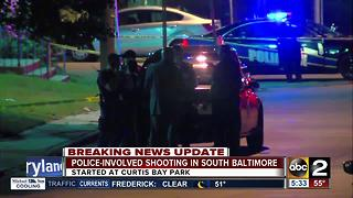 Suspect injured in south Baltimore police-involved shooting - Video