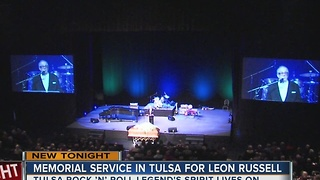 Leon Russell Memorial Service in Tulsa - Video