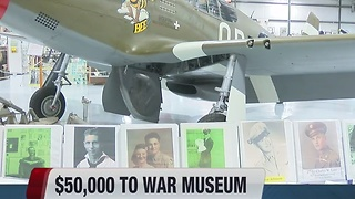 $50,000 donation to Warhawk Air Museum - Video