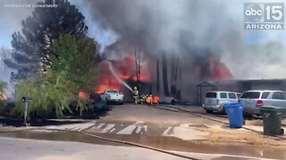First-alarm house fire burns near 51st Ave and Elliot