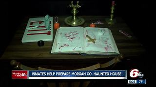 Morgan County Jail inmates help prepare county's haunted house to get time off their sentence - Video