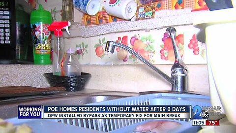 Poe Homes residents without water 6 days after main break
