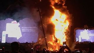 Huge Fire at Tomorrowland Festival Spain Stage Forces Evacuation - Video