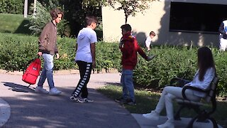 How will these strangers react to a boy getting bullied?