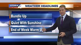 Sunny but cold Wednesday - Video