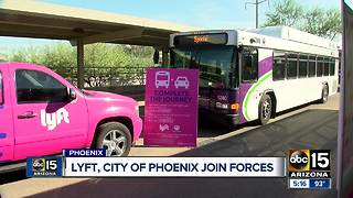 Lyft and City of Phoenix join forces to encourage public transit use - Video