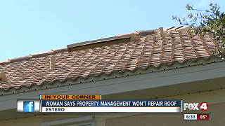 Woman says property management won't fix roof - Video