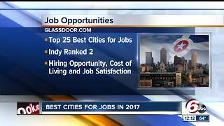 Indy named No. 2 city in country for jobs - Video