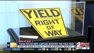 First yield sign invented in Tulsa