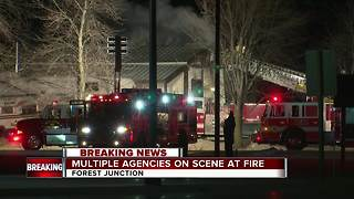 fire in Forest Junction - Video