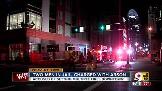 Two men charged with arson - Video