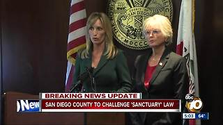 San Diego County to challenge 'sanctuary' law - Video