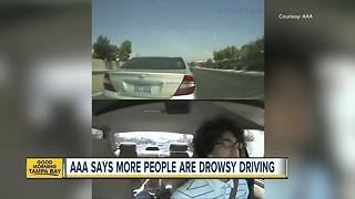 AAA research shows number of drowsy driving crashes is eight times higher than national estimates - Video