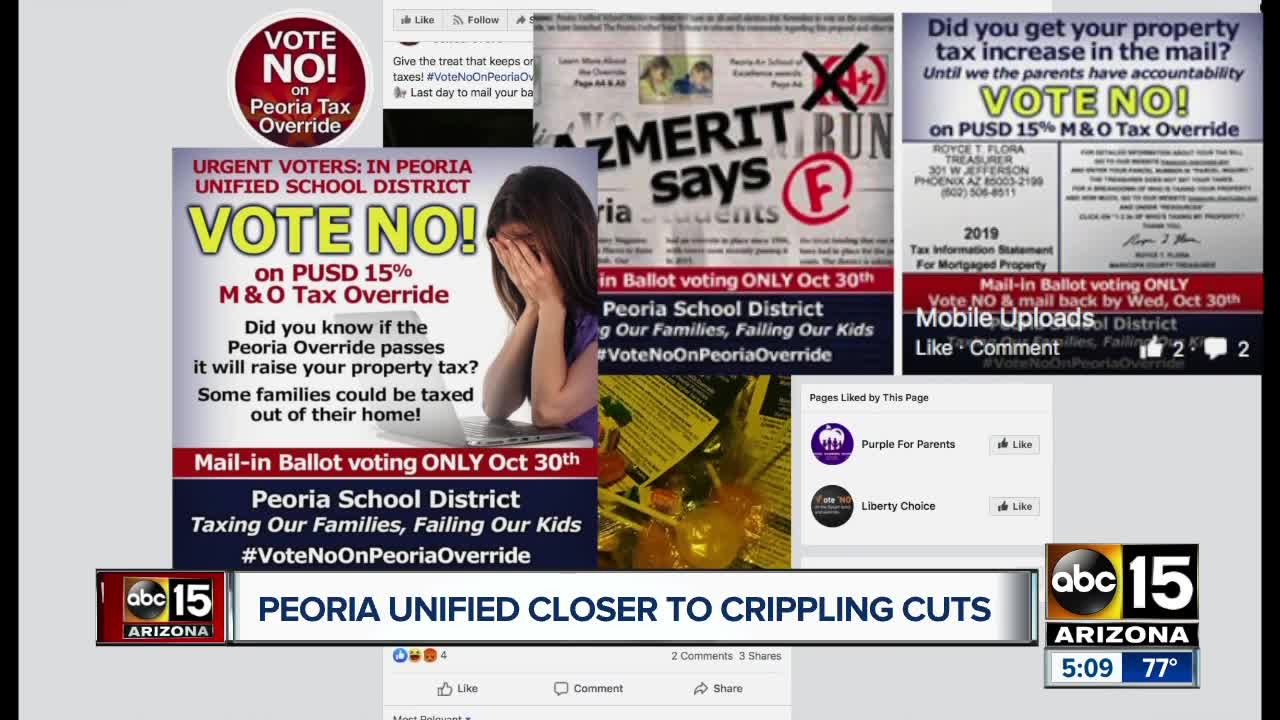 Peoria Unified School District considering devastating cuts