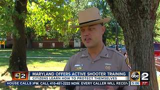 Maryland offers active shooter training