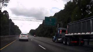 Driver asleep at the wheel causes car accident - Video