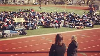 Norman High School Students Lie Down in Solidarity With Parkland - Video