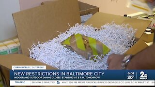 New restaurant restrictions in Baltimore City