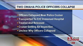 Two Omaha Police officers collapse