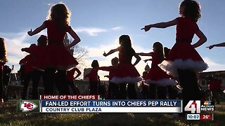 Fan-led effort turns into Chiefs pep rally