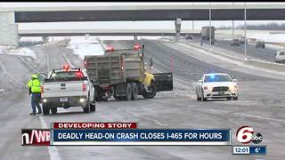 I-465 re-opened after deadly wrong-way crash - Video