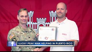 Local man helps to restore Puerto Rico - Video