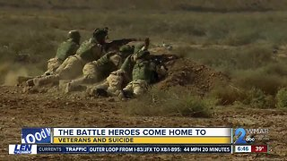 The constant battle veterans come home with