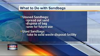 After Irma: What to do with extra sandbags - Video