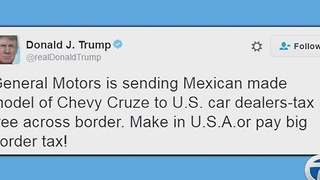 Trump attacks GM on Twitter - Video