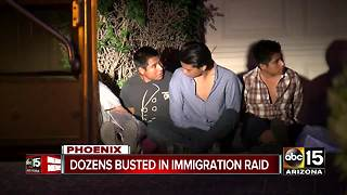 Dozens detained in human smuggling investigation at Phoenix home - Video