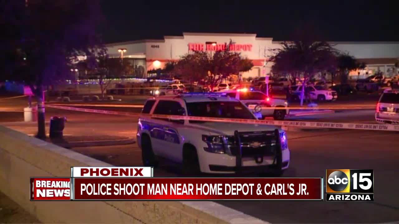 Police shoot man outside Home Depot in Phoenix