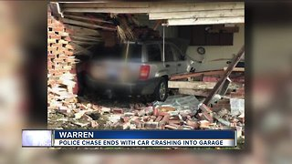 Police chase ends in crash - Video