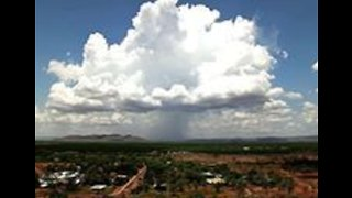 Thunderstorms Rage Over East Kimberley in Western Australia