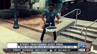 Local street performer gets national attention after video goes viral