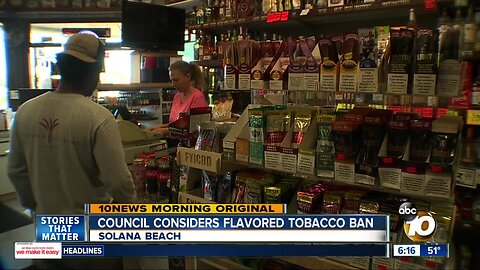 Solana Beach considers ban on flavored tobacco products