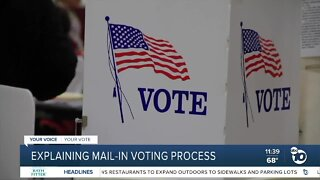 San Diego Registrar of Voters explains mail-in voting process