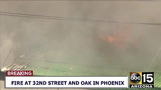Fire destroys businesses near 32nd Street and Oak - Video