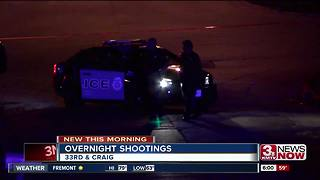 Police investigate two overnight shootings - Video