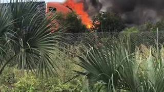 Truck fire causes delays on I-95 in West Palm Beach