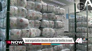 Diaper bank gives low-income families diapers - Video