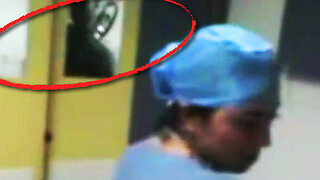 Terrifying Moment Nurse Films Ghostly Figure In Hospital - Video